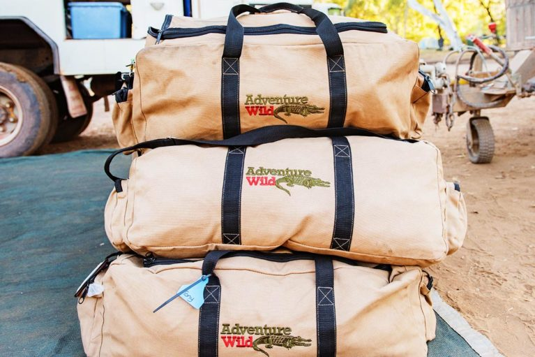 1 Our bags are packed and ready to go. Adventure Wild Kimberley Tours supply guests with a free soft sided luggage bag to keep & for use on tour_ - Day 12