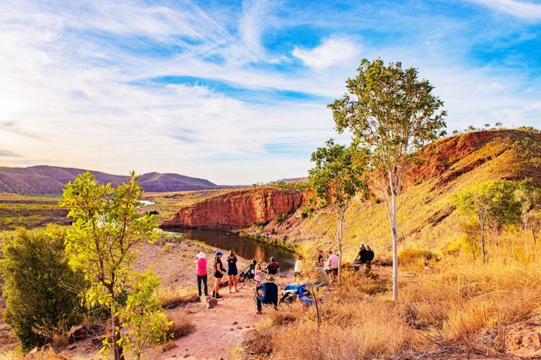 7 Sunset at Pigeon Hole Lookout, El Questro Station epitomises the colours, varying landscapes & pristine environment of the Kimberley_ - Day 6