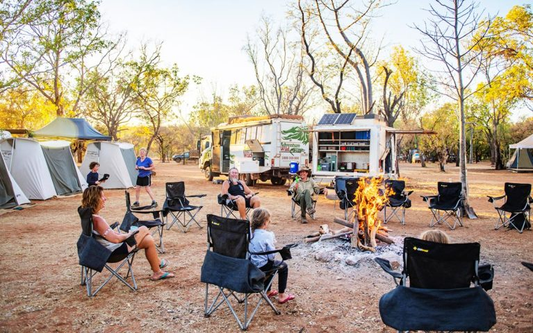 Relax & enjoy Adventure Wild's permanent campsite at Mt Barnett Station, on the banks of the Manning River.