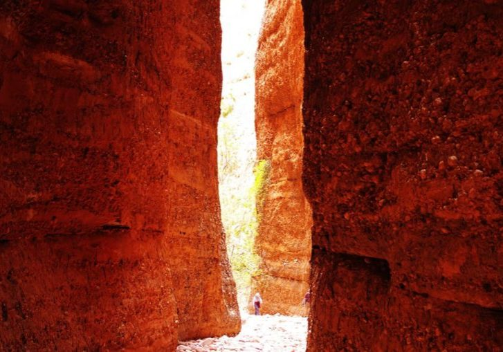 Echidna Chasm, Purnululu National Park is a narrow gorge with 200m high vertical walls & at times only 2m wide.